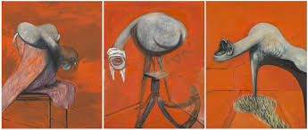 Three Studies for Figures at the Base of a Crucifixion', Francis Bacon,  1944   Tate